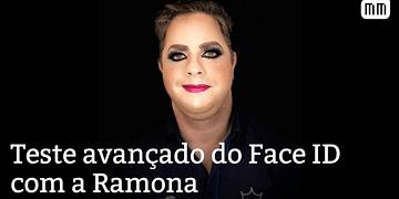 Teste avançado do Face ID no iPhone X com a Ramona