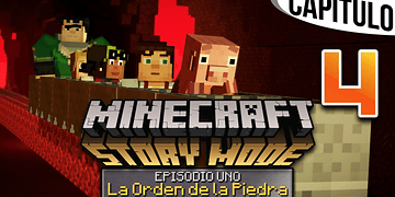 MINECRAFT: STORY MODE | Ep. 1 Cap. 4 ESCAPE A TRAVÉS DEL NETHER | Gameplay en Español