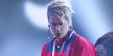 Justin Bieber performing Love Yourself & Company at iHeartRadio Music Awards April 3, 2016