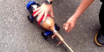 Foguete de carro com Soda Geyser! Experimento Louco!