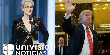 Trump responde a Meryl Streep en Twitter y dice que está sobrevalorada de Hollywood