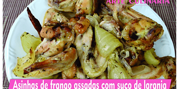 ASINHAS DE FRANGO ASSADAS COM SUCO DE LARANJA
