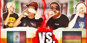Cerveza Mexicana VS Cerveza Alemana │ México VS Alemania: Reto de Cerveza │Amor Eterno y WeroWeroTV