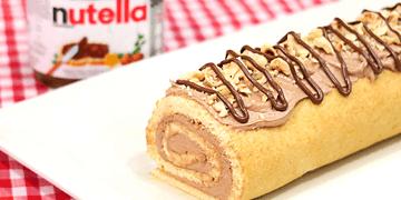 Brazo de Gitano de Nutella | Cake Roll