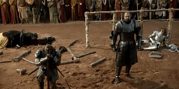 Ser Loras Tyrell vs Gregor Clegane tournament