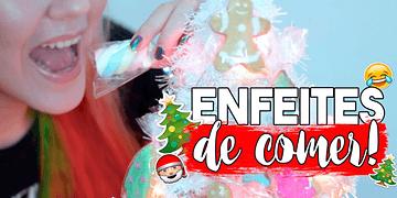 DIY Enfeites de Natal COMESTÍVEIS ⭐ 🎅 🎄 #NataldaAlê02