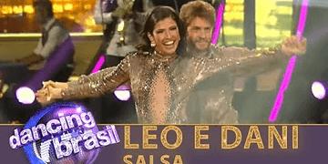 Salsa de Leo e Dani mostra evolução da dupla na competição