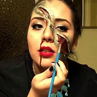Maquillaje Tenebroso Para Halloween, FACIL Y BARATO