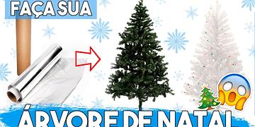 Como Fazer uma ÁRVORE DE NATAL DE VERDADE (!) 🎄 #NataldaAlê01