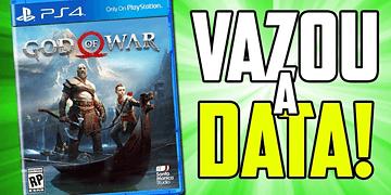 VAZOU A DATA DE LANÇAMENTO DO NOVO GOD OF WAR!!!