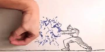 ANIMAÇÃO vs ANIMADOR ★ Luta em stop-motion contra a mão que desenha!