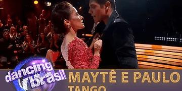 Maytê e Paulo dançam tango e impressionam jurados
