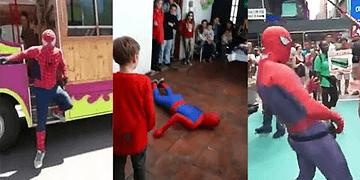 Spiderman se cae y se la parte (Recopilacion completa) l Tops Al Chile!