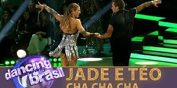 Jade e Teo escolhem cha cha cha para finalizar a disputa do Dancing