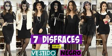 7 DISFRACES CON UN VESTIDO NEGRO | What The Chic