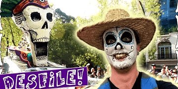 Day Of The Dead Parade! In Mexico City | Kieran Reade