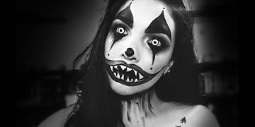 MAQUILLAJE DE PAYASO DIABÓLICO PARA HALLOWEEN⎢Evil Creepy Clown Makeup Tutorial⎢DAY ARVIZU♡