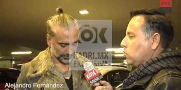 Alejandro Fernández se lanzó a los golpes e insultos y todo por una entrevista