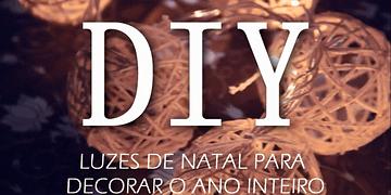 DIY - Luzes com Bolinhas de Barbante |CINCO GRAÇAS|