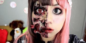 maquillaje Zombie ♥ Miku, muñeca zombie