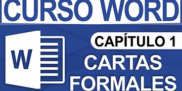 Curso Word 2013 - Capitulo 1, Carta sencilla (Formal)