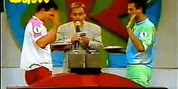 Passa ou Repassa (1992) - Silvinho e Gretchen x Mateus Carrieri e Vera Zimmerman - Torta na Cara